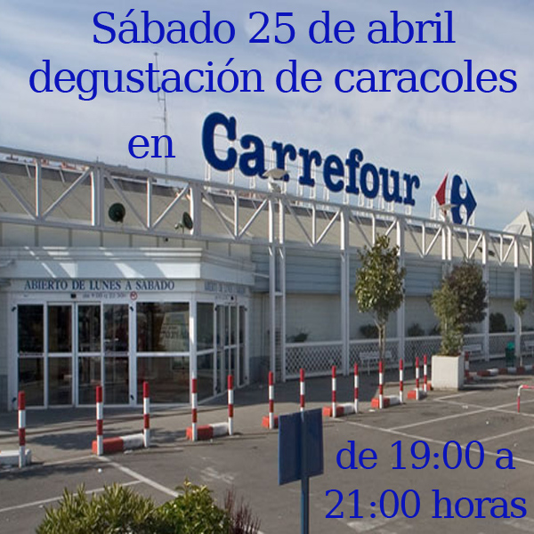 Degustación de caracoles en Carrefour